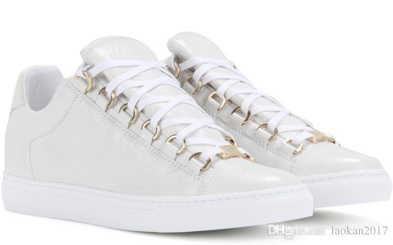 Großhandel beste ausgabe qualität low top arena männer sneaker schuhe kanye west echtes leder casual walking frankreich stil designer trainer flach