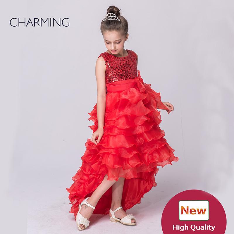 robes en pageant rouges robes de créateurs Tutu modelant en short long sans manches en mousseline de soie en mousseline de soie