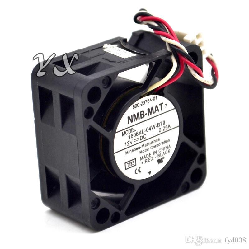 Envío gratis NMB-MAT 1608KL-04W-B79 LB2 DC 12V 0.25A Servidor Ventilador de refrigeración Ventilador cuadrado 3 hilos 40x40x20mm