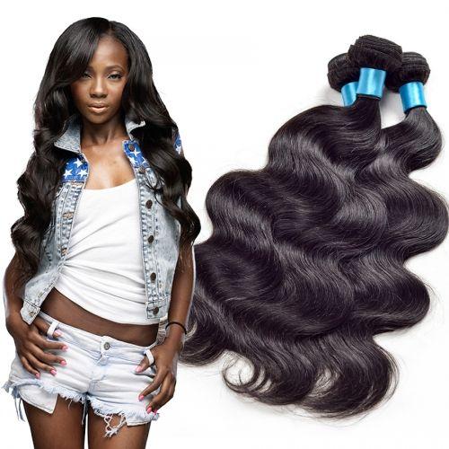 Virgin dei capelli malesi dell'onda del corpo di tessuto dei capelli non trattati umani tesse Remy estensioni dei capelli umani nessun spargimento tingibili 3pcs / lot