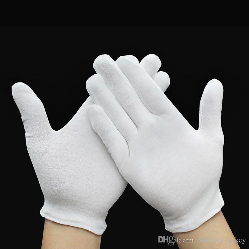 12 أزواج الأبيض التفتيش القطن ليزلي قفازات العمل كوين مجوهرات خفيفة حار!