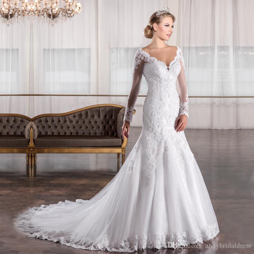 Vestido De Noiva 2019 Vintage Lace