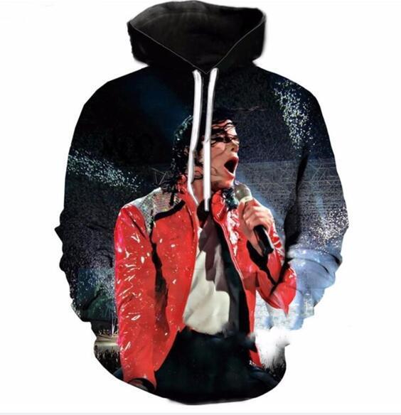 2017 herbst winter männer frauen neue mode 3d hoodies king of pop-michael jackson druck lässig hoody lustige sweatshirt xk132