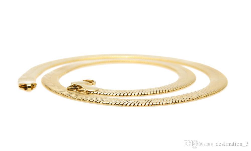 Hip Hop Gold Kette 1 Reihe Simulierte Hip-Hop Halskette Kette Mens Gold Tone Iced Out Punk Halskette