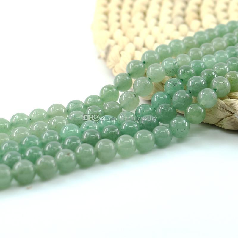 jade Violet pierres précieuses 38cm rond naturel 8mm perles lâches