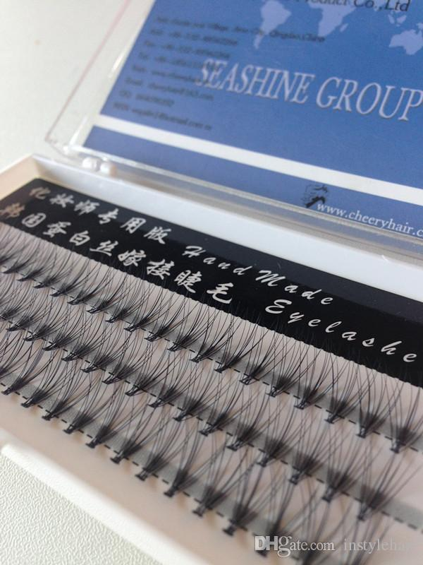 High Quality 10mm 12mm Natural Maekup Individual Eyelash Extension False Eyelashes Cluster Korean technique Popular sale
