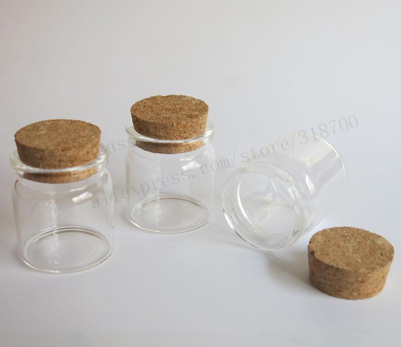 30 X 20 ml botella de vidrio vacía con corcho, botella de tapón de corcho, tarro de cristal, utilizado para el almacenamiento, recipiente de vidrio artesanal