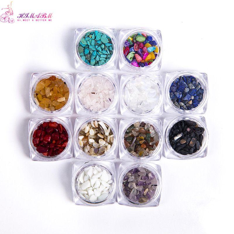 HIMABM 1 pezzo = 100g Colorate irregolari in pietra naturale 3D Decorazioni per nail art Ruota Accessori fai da te per gioielli di bellezza