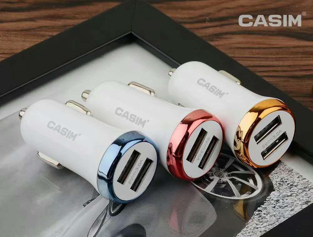 CASIM Hızlı Şarj 3.0 Tip-C Mikro Araç Şarj 2 Limanlar Hızlı USB Araç Şarj Qualcomm USB evrensel port iphone Samsung Için