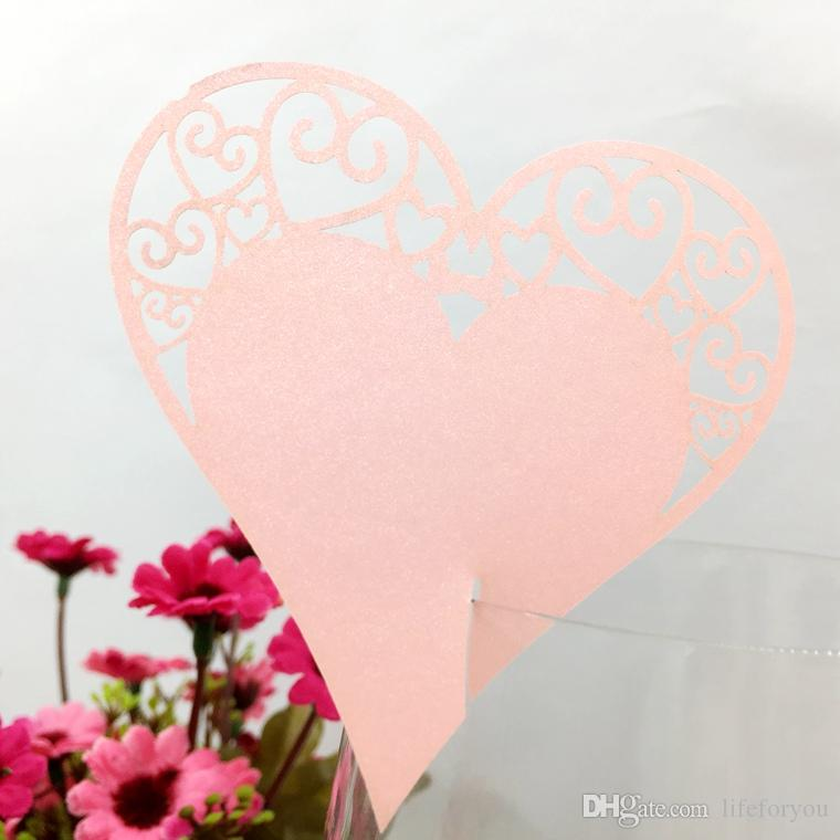 Hochzeit Party Gefälligkeiten Tischdekoration Hochzeit Dekorationen Hochzeit Dekorationen Herzstück Geburtstagsfeier Dekor Herz Weinglas Tischkarte