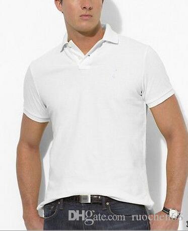 الرجال الصيف أزياء قصيرة الأكمام قميص الرجال الرياضية عارضة تي شيرت قمصان الغولف 100 ٪ COTTON حصان كبير السفينة حرة