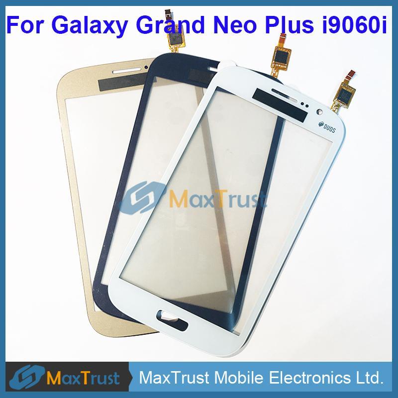 """Üst Kalite 5.0"""" Samsung Galaxy Büyük Neo Plus, i9060i Dokunmatik Ekran Sayısallaştırıcı Ön Panel Sensör Siyah Beyaz Altın Rengi için"""
