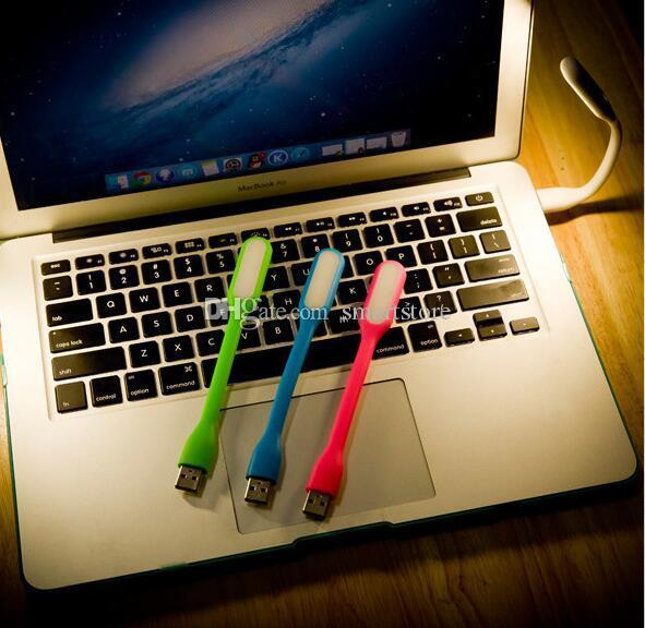 300pcs luci della lampada della luce LED USB colorato flessibile per notebook portatile di lettura della tastiera del computer CALDO! 0001