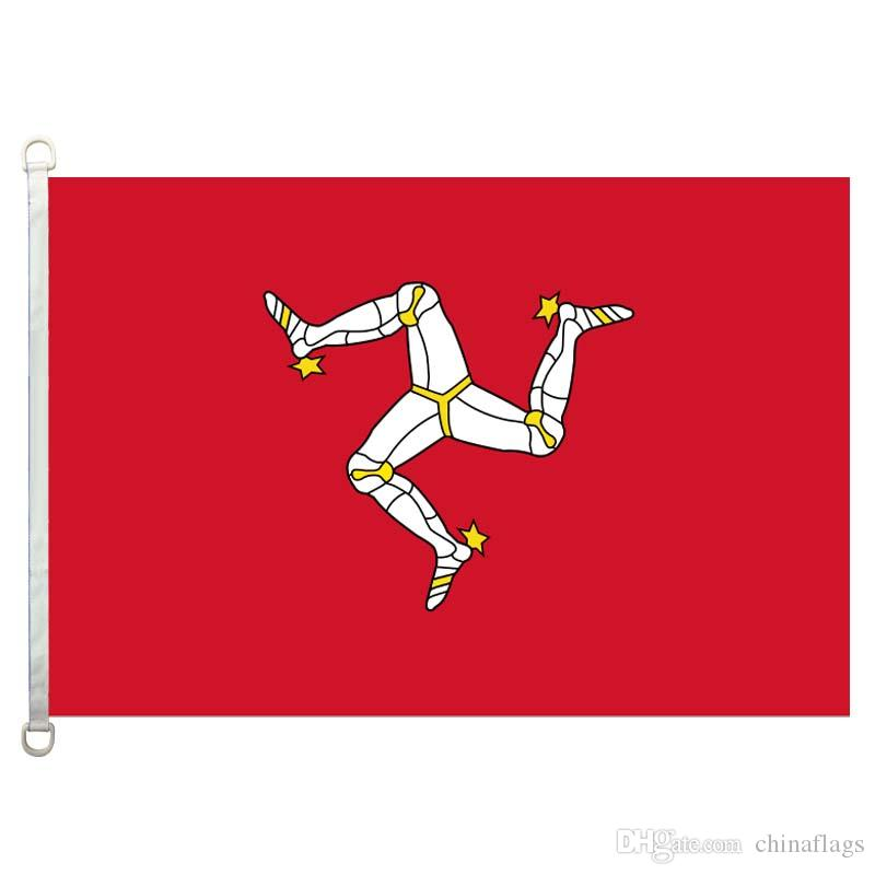 Good Flag the_Isle_of_Mann Flags Banner 3X5FT-90x150cm 100% Polyester country flags, 110gsm Warp Knitted Fabric Outdoor Flag