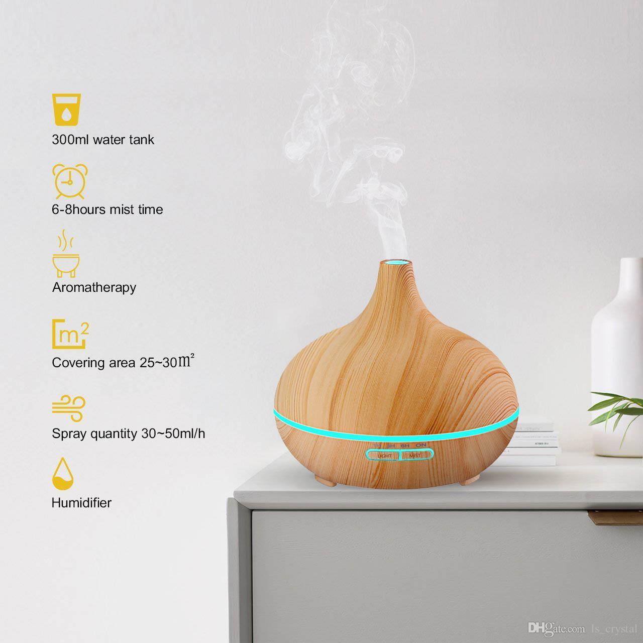Aromaterapia Camera Da Letto acquista 300ml fresco umidificatore di olio essenziale aroma aromaterapia  umidificatore ufficio casa camera da letto soggiorno spa spa grano di legno