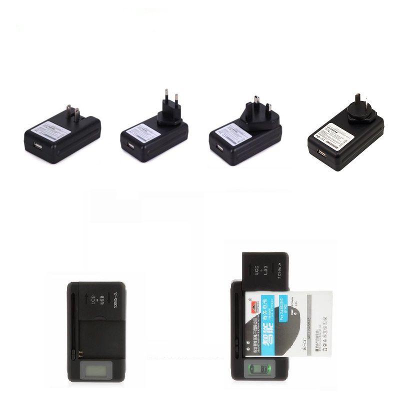Indicatore di carica della batteria LCD intelligente universale per samsvng GALAXY S4 I9500 S3 I9300 NOTA 3 S5 con carica di uscita USB US EU AU PLUG