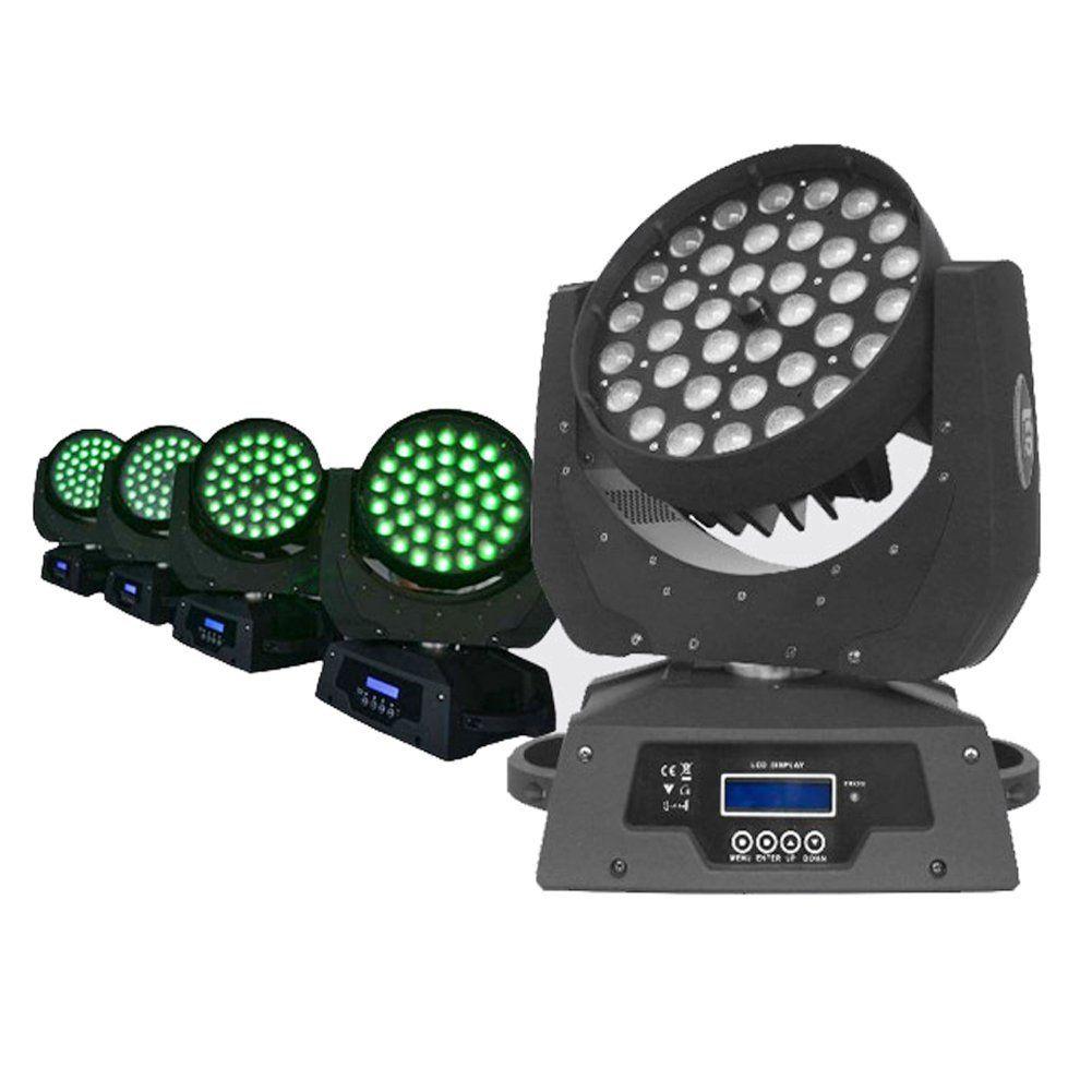 2 adet / grup 36 * 18 W RGBWA-UV 6IN1 Yakınlaştırma Led Hareketli Kafa Işık Demeti