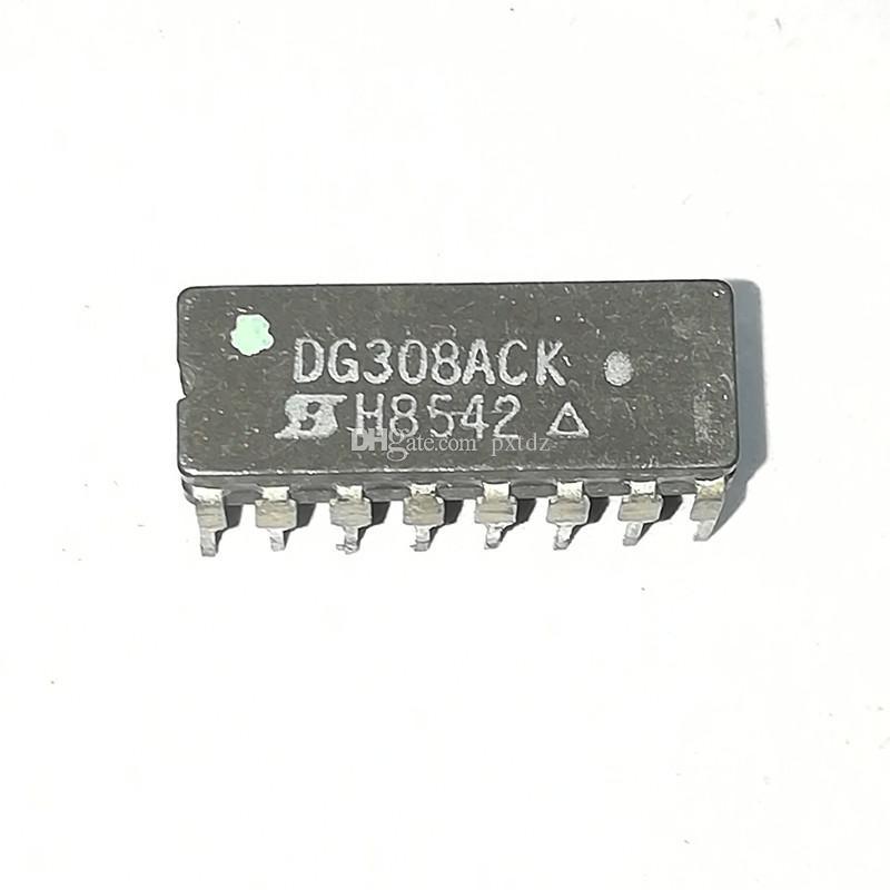 DG308ACK. DG308A, DG308 / QUAD 1-CANALE, SGL POLE SGL THROW SWITCH circuiti integrati IC / dual in-line 16 pin pacchetto ceramico, CDIP16