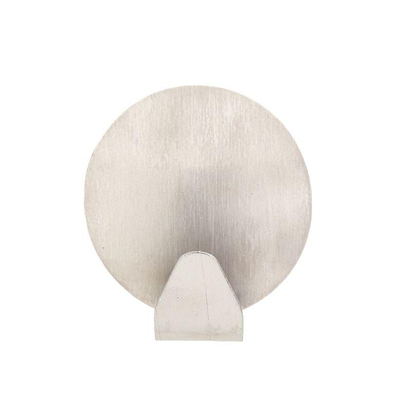 Al por mayor- 2pcs / lot Inicio cocina puerta de la pared sin costura adhesiva gancho auto adhesivo de acero inoxidable titular de la suspensión del gancho grande GI602745