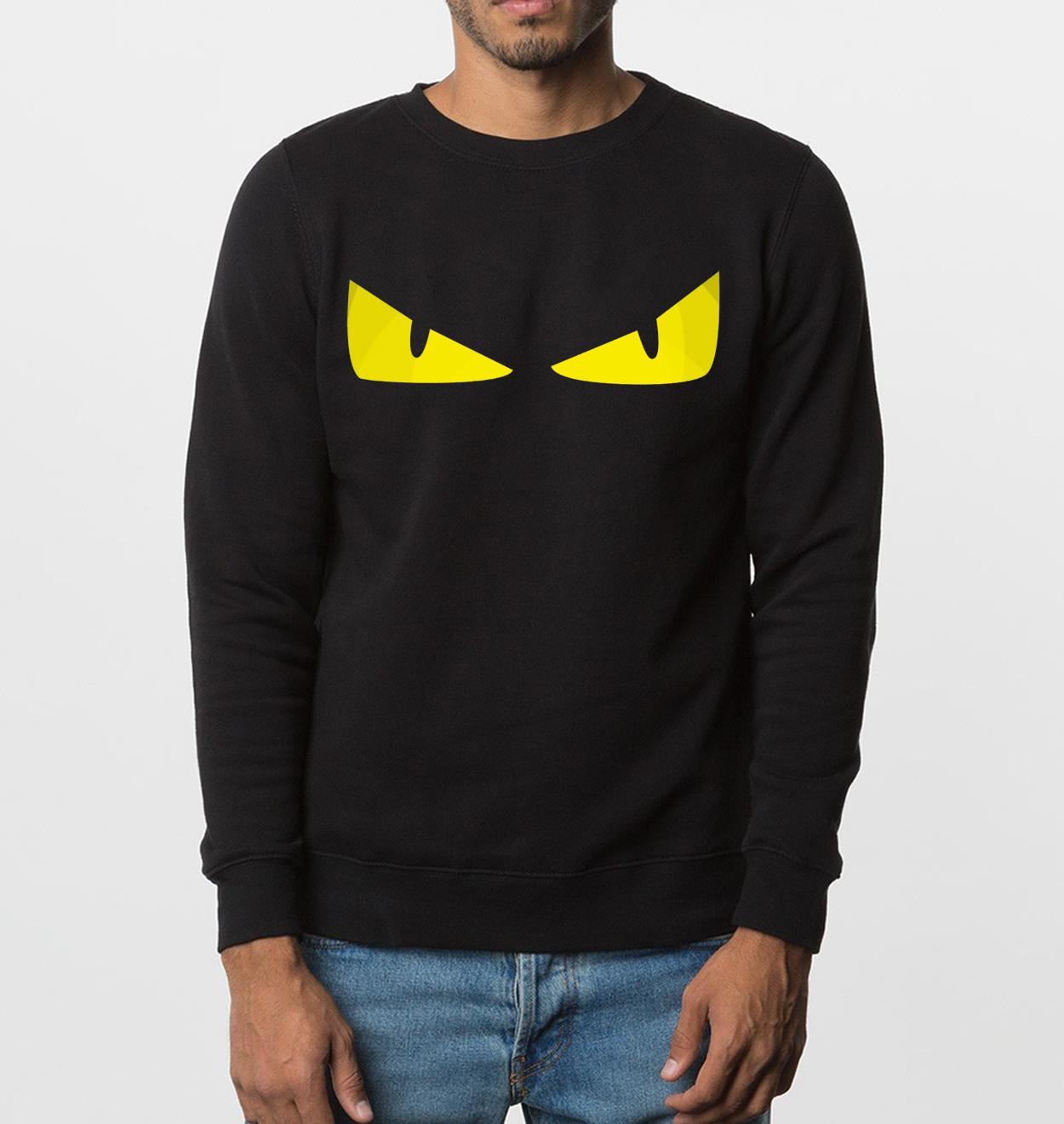 смешная толстовка новая осень зима сердитые глаза мужчины толстовки хип-хоп стиль бренда одежда флис верх с капюшоном спортивный костюм