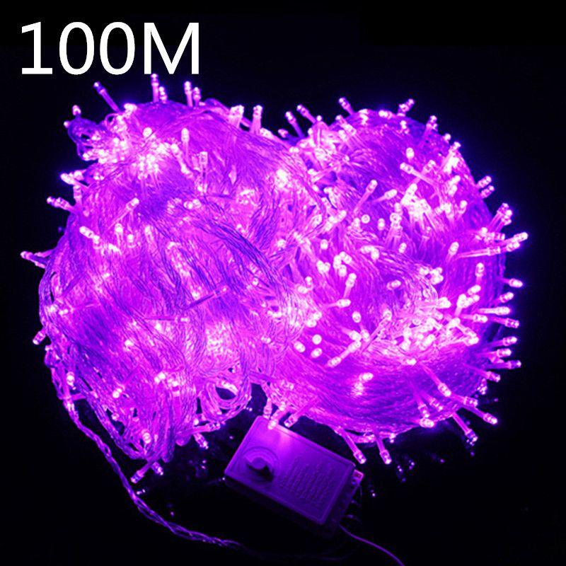 Umlight1688 10M 20M 30M 50M 100M Weihnachten LED-Schnur-Licht 110V-220V IP67 Farbe RGB-Weihnachtsschnur-Licht im Freien Innenwasserdicht mit Steckern