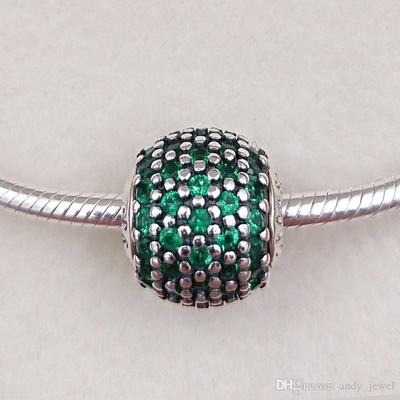 Otantik 925 Ayar Gümüş Boncuk Refah Charms Avrupa Pandora Stil Takı Bilezikler Kolye Uyar 796061RGC