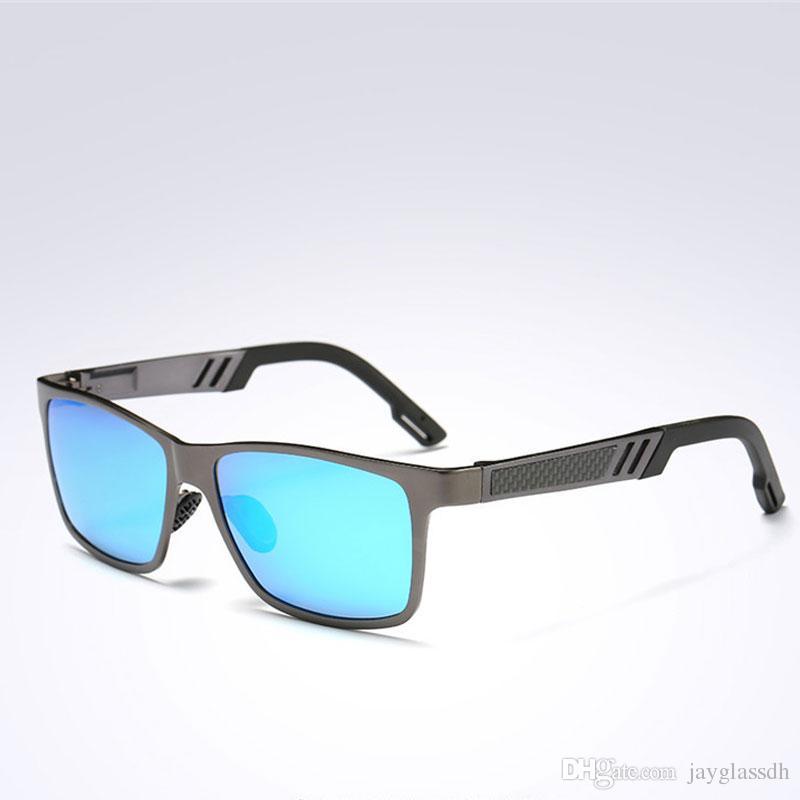 Diseñador de moda gafas de sol Aluminio Magnesio Gafas polarizadas Hombres Gafas de sol UV400 Hombre Gafas de conducción Hombre Gafas de sol polarizadas