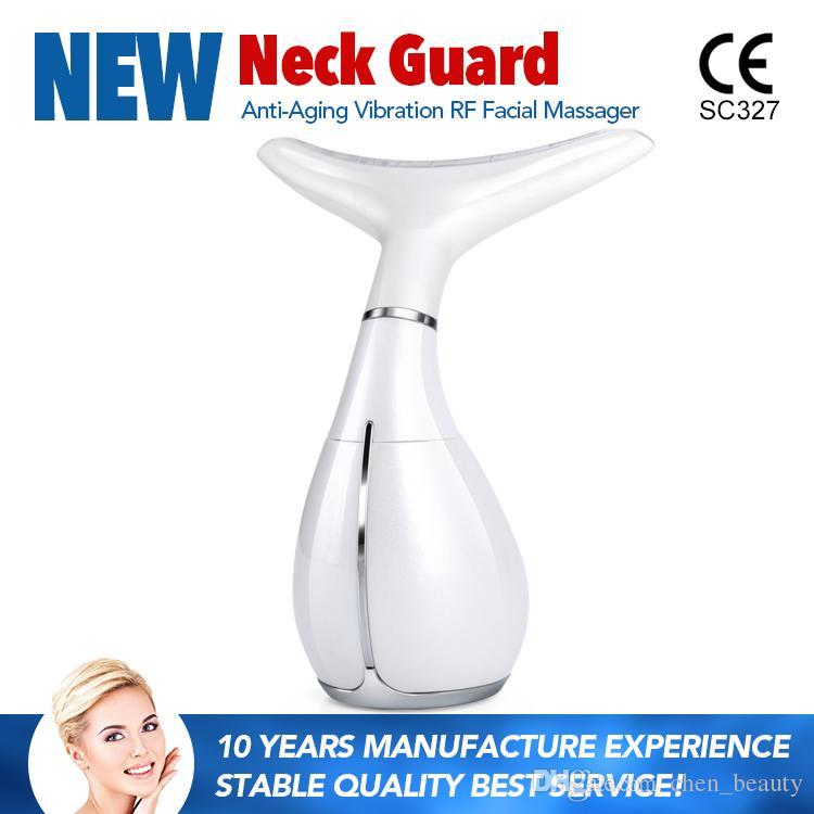 2017 Date Mini portable anti-vieillissement thérapie par la lumière cou masseur équipement de beauté utiliser à la maison approbation CE DHL Livraison gratuite
