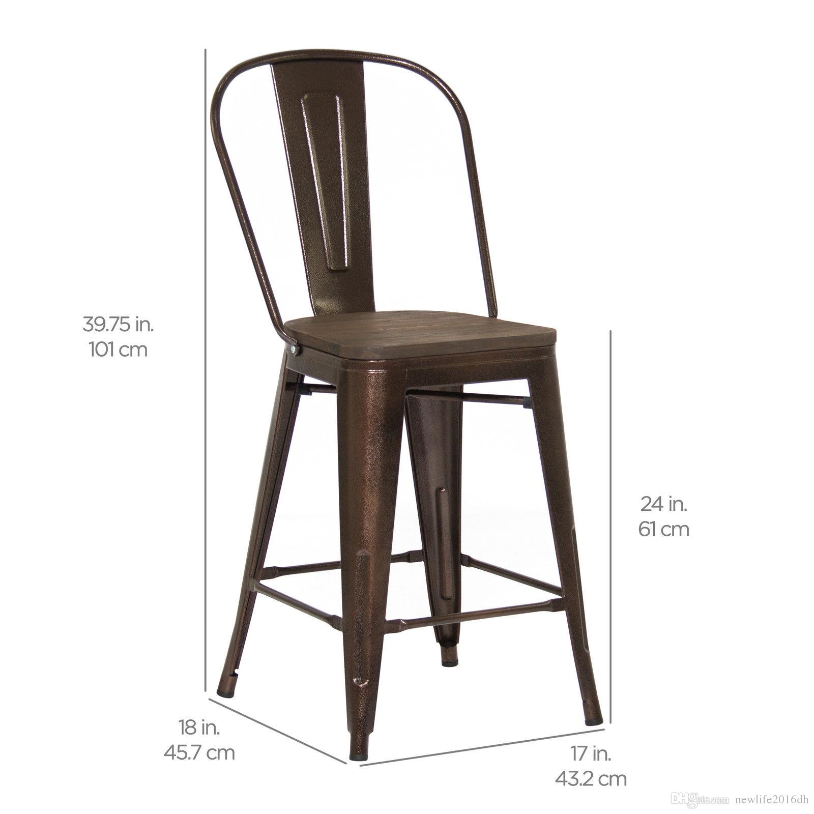 Cool 2019 Industrial Style Set Of 2 Counter Height Metal Wood Bar Stools Brown From Newlife2016Dh 95 48 Dhgate Com Machost Co Dining Chair Design Ideas Machostcouk