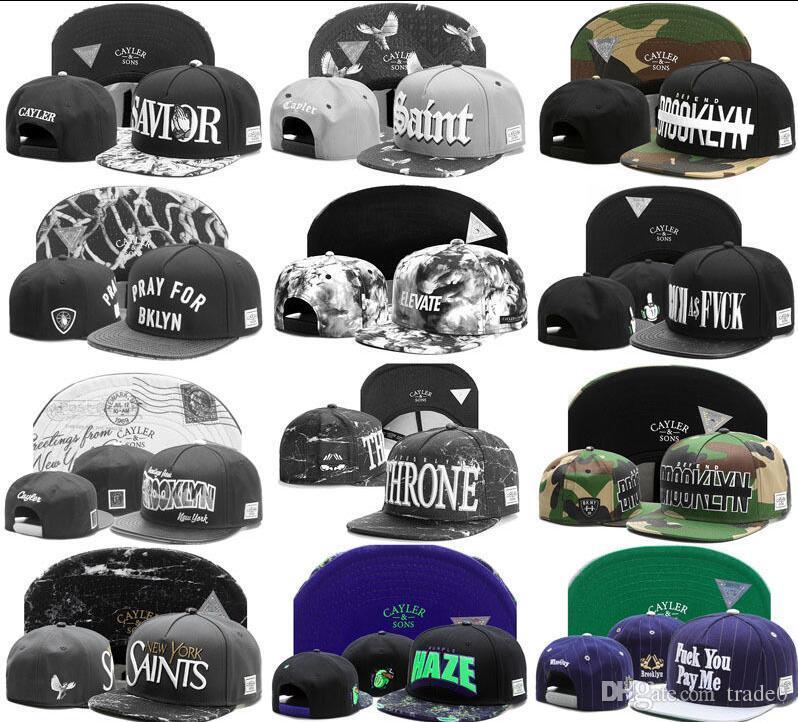الجملة 1PCS CaylerSons قبعات snapback القبعات البيسبول SNAPBACKS الأزياء قبعة سنببك القبعات الملونة قبعات snapback قبعة الكرة الرجال قبعة وغطاء