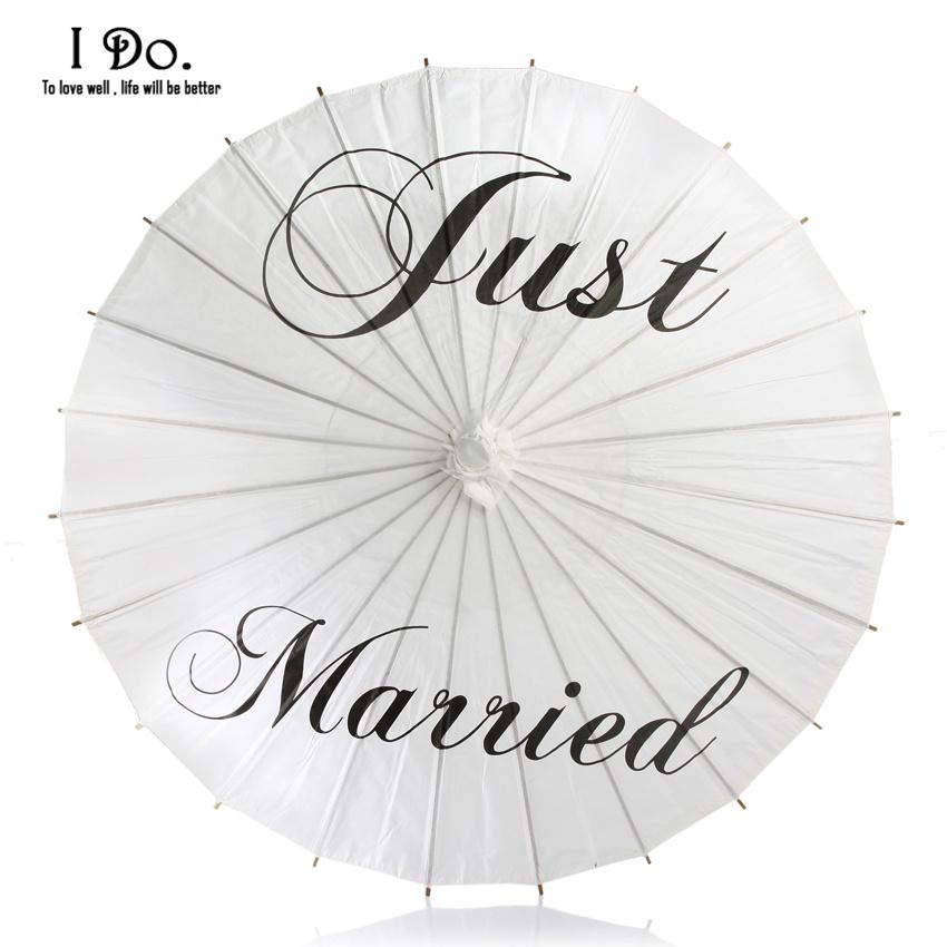 Ombrello in carta dipinta a mano appena sposata per foto di matrimonio Ombrello in carta da sposa 84 cm