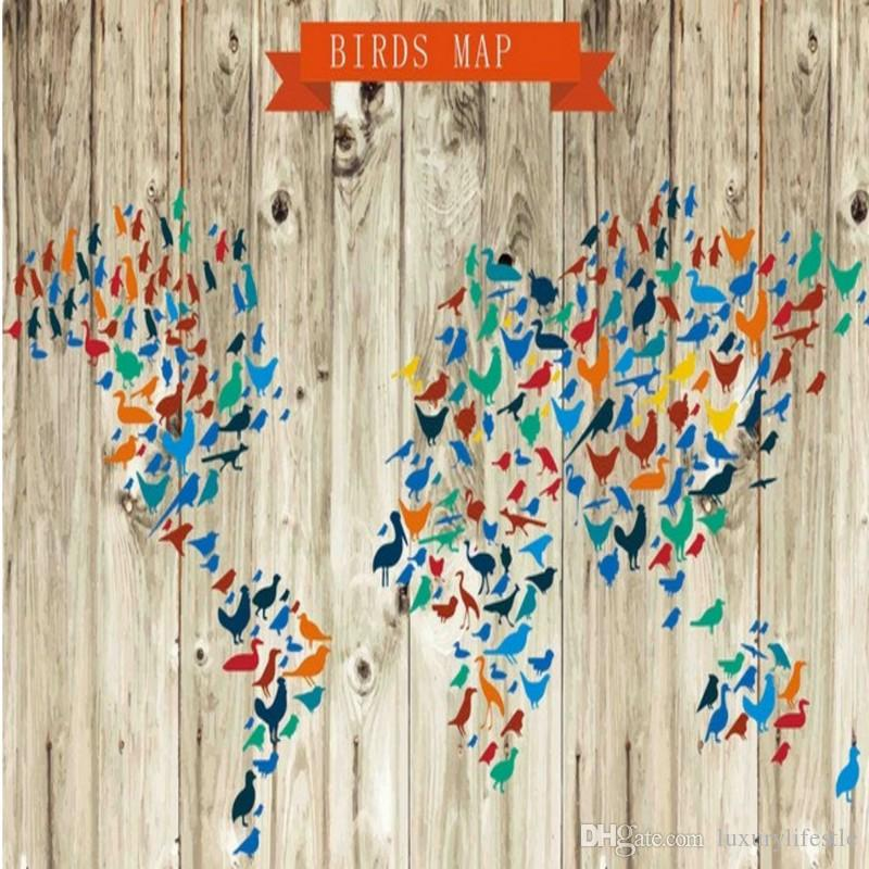 Free shipping 3d stereo modern minimalist creative bird painting 3d stereo modern minimalist creative bird painting version world map wallpaper high quality bedroom living room sciox Choice Image