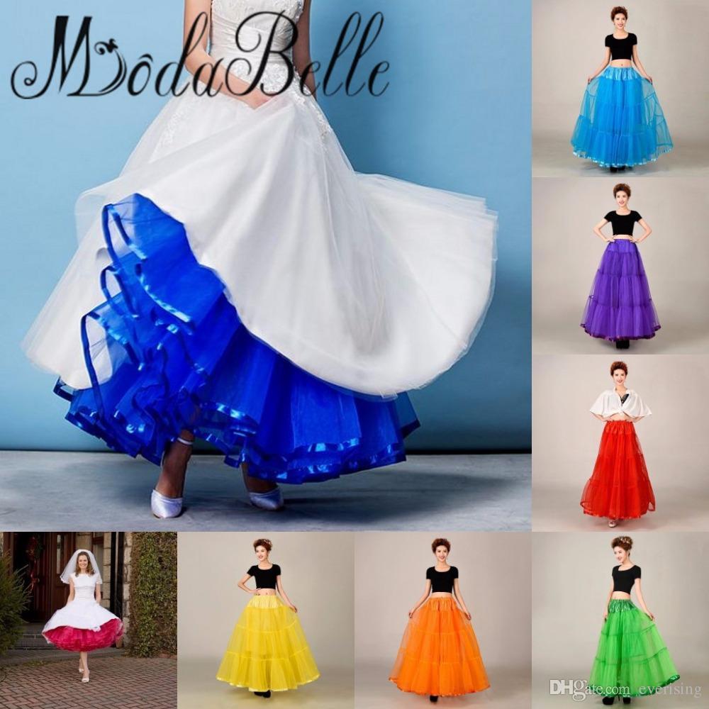 2018 خط قصير التنورة الداخلية تحتية قصيرة الركبة طول الزفاف تول تنورات لفستان الزفاف الساخن بيع التنورة الداخلية