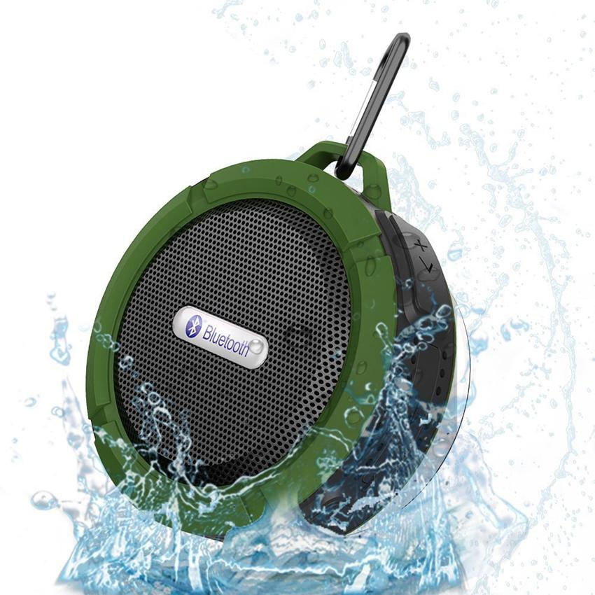 new C6 Portable Wireless Speaker Call Handsfree Waterproof Bluetooth Bathroom Audio Sound Box For iPhone Samsung
