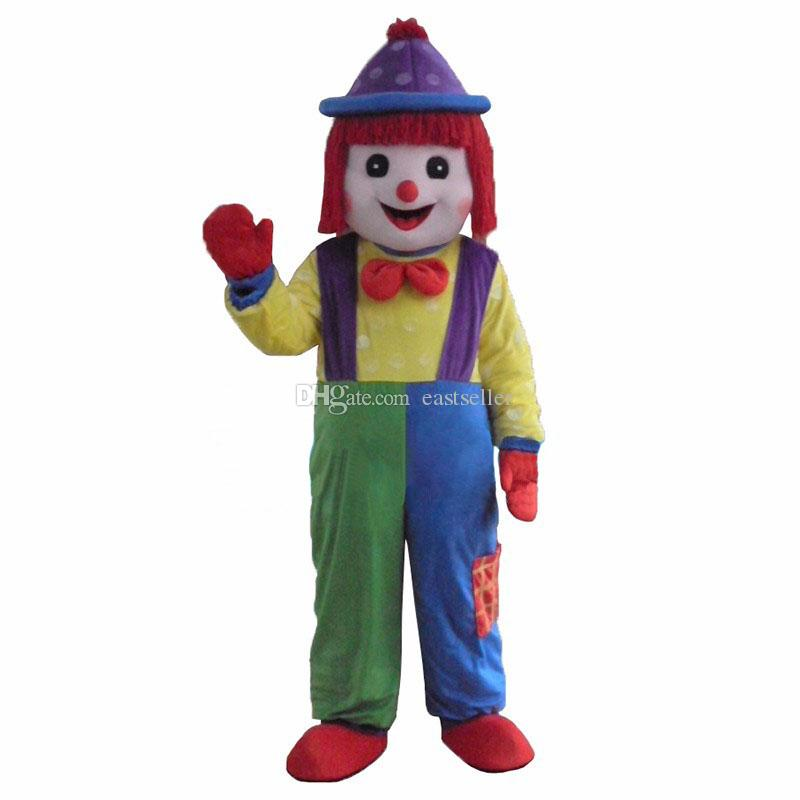 Hot Clown Comic Mascot Costume Halloween Party DressAdult Size Free Shipping