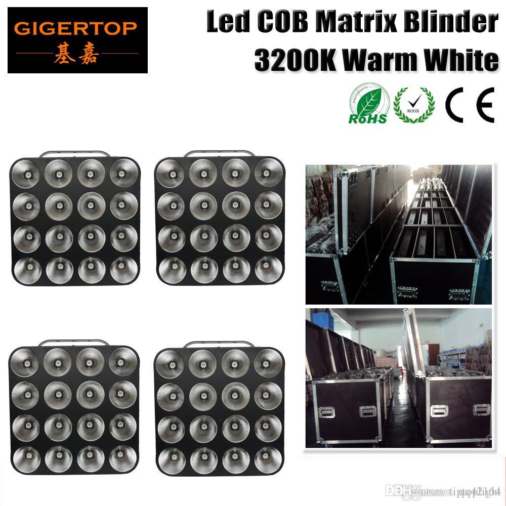 Flight Verpackung 4in1 4XLOT 16 Kopf LED-Matrix-Licht-warmes Weiß 16 * 30W COB Matrix Blinder Licht für den Hintergrund, Studio-Licht-TP-M16 WEISS
