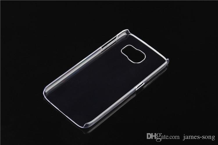 Per Samsung Galaxy S3 S4 S5 S6 bordo S7 S8 plus mini note 2 3 4 5 Custodia rigida trasparente per PC trasparente