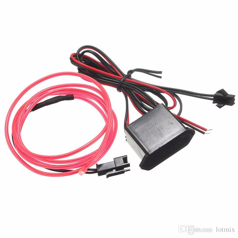 New Arrival 1M 10 Colors Flexible EL Wire Flash Neon Glow Light With 12V Controller