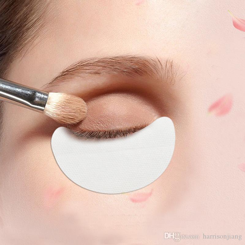 100 paia / lotto Monouso Gel Gel Patch Non tessuti sotto gli occhi Pads Eyeshadow Shield Sticker per prolunga per ciglia falsa