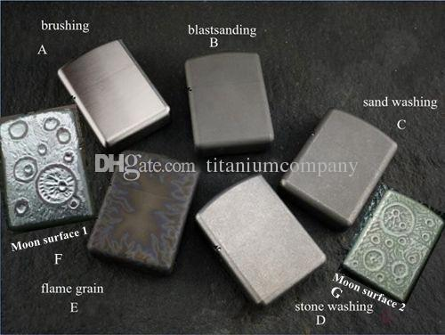 Titanyum TC4 Savaş Zırh Yağ Çakmak Kabuk / Durumda Katı 1.7mm Kalın malzeme Güçlü Menteşe Su Geçirmez Yakın Ortak Yakıt Tasarrufu O Yüzük ile 57g