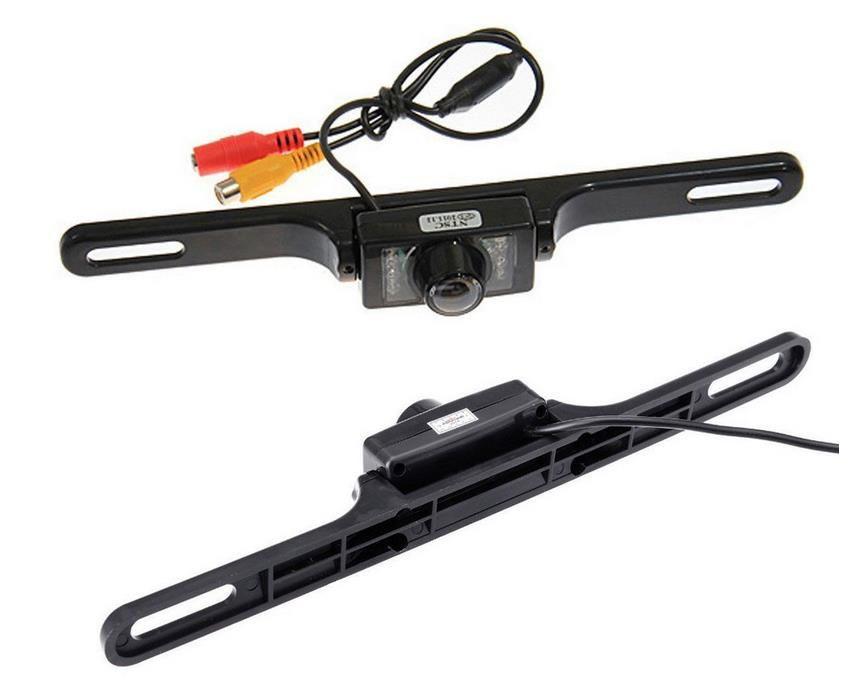 ماء طويل لوحة ترخيص إطار اللون CMOS سيارة كاميرا الرؤية الخلفية لكاميرا عكس وقوف السيارات مع 7 LED IR ليلة Vison