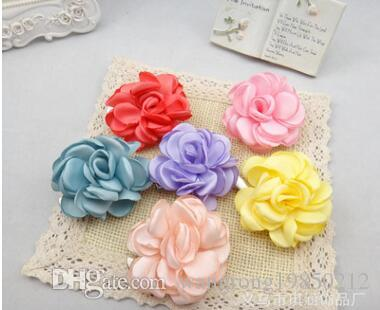 Camellia flowers brooches pins hair clips bridal gowns rose floral brooch pin corsage party birthday wedding gifts