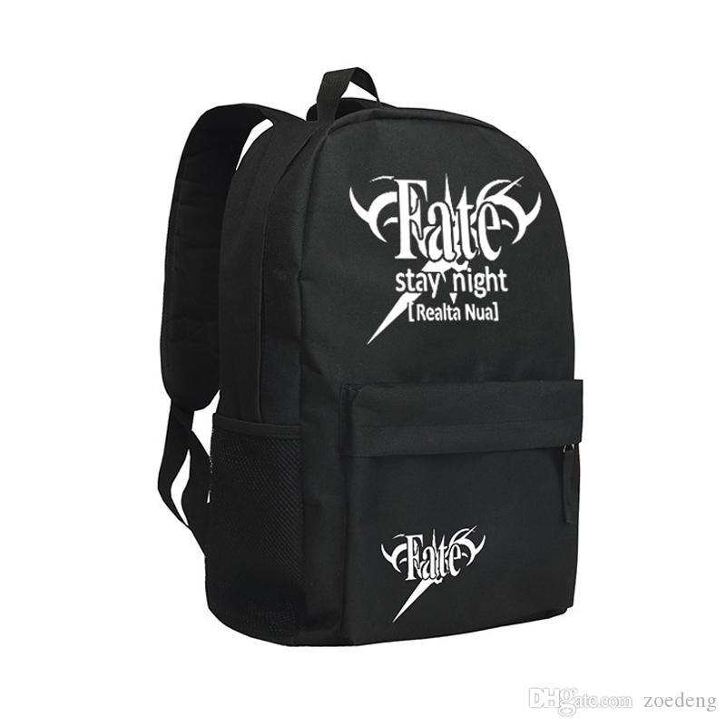 Ragazzi Ragazze di spalla Bag in zaino di colore nero cachi per gli studenti di scuola della Bookbag Fate Zero