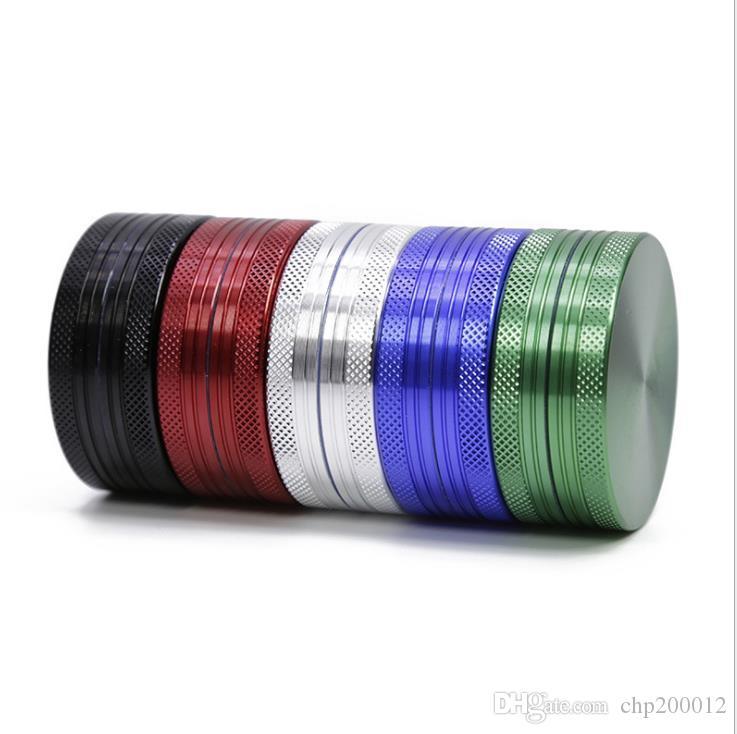 Aleación de aluminio 2 capas del diámetro de la amoladora 50MM altura 20MM fumadores de cigarrillos del comercio exterior LV500-2