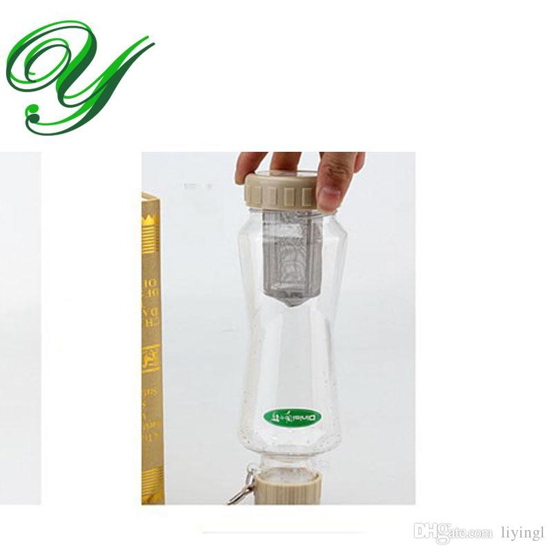البلاستيك زجاجة تصفية زجاجة الماء الساخن الفولاذ المقاوم للصدأ التحلل الشاي القدح 760ml مع فلتر الشاي مصفاة مقاومة للحرارة حقيبة محمولة الرياضة