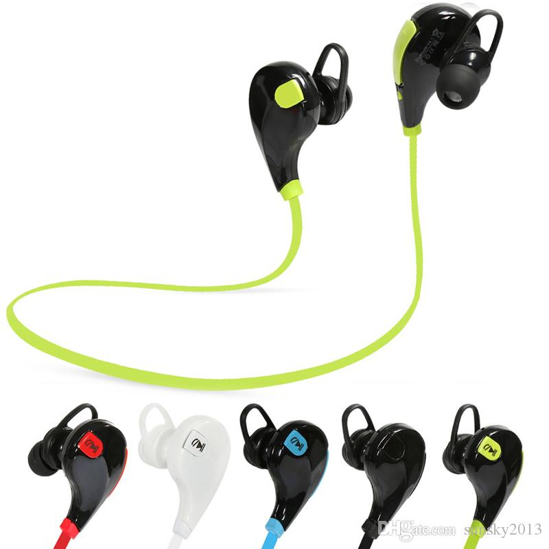 Sports Bluetooth Earphone Wireless Stereo in-ear Running Earphones QY7 Headphone Headset with Mic Handsfree for iPhone Android Phone 2017