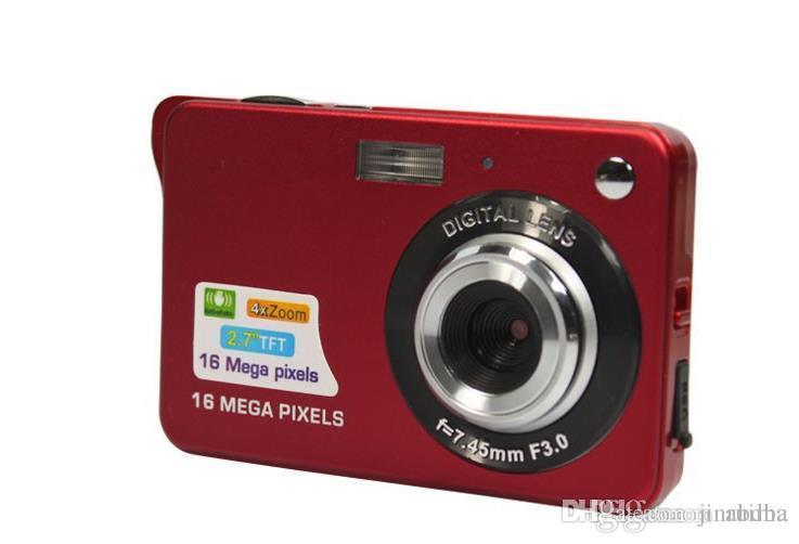 الكاميرا الرقمية 10PCS 2.7 بوصة TFT LCD 16.0 ميجا بكسل تقريب رقمي 4X المضادة للاهتزاز كاميرا فيديو صور كاميرا مجانية أرسل