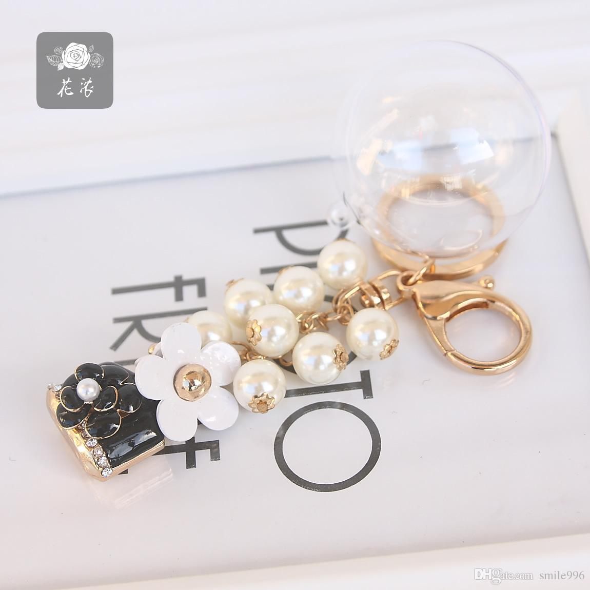 The Famous Yuan Xiaoxiang Delicate Pearl Daisies Perfume Small Black Bottle  Eternal The Key Ring To