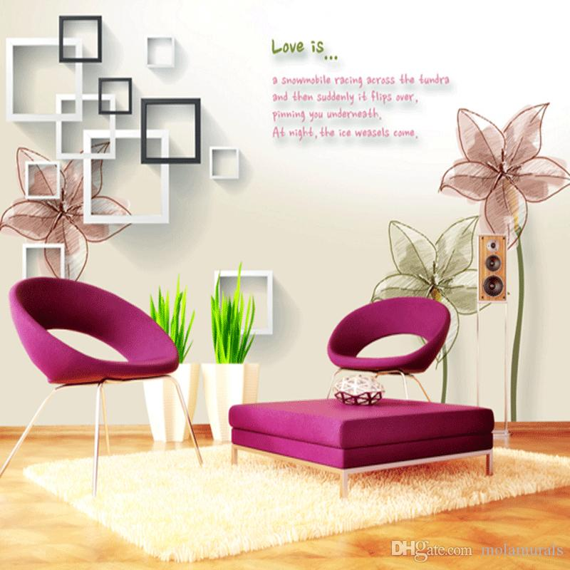 Vlies Mode Wallpaper TV Hintergrund Schlafzimmer Sofa Hintergrund Wände Home Wallpaper 3D Wallpaper für Wohnzimmer