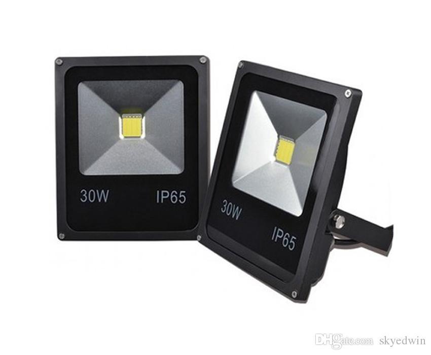(10PCS/Lot) AC85-265V 12V LED Flood Light LED Floodlight 30W DC12V 24V 100-110LM/W High Lumen Super Bright Thick Housing